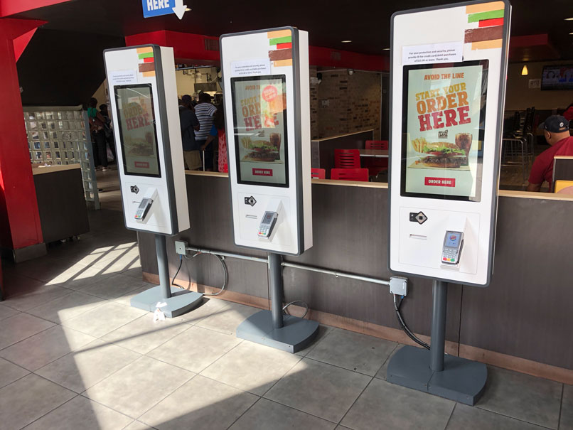 Burger King Ordering Kiosks