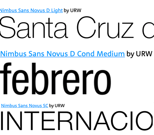 Nimbus Sans Novus Fonts Used on 2016 Carnaval Poster for Sta. Cruz de Tenerife.