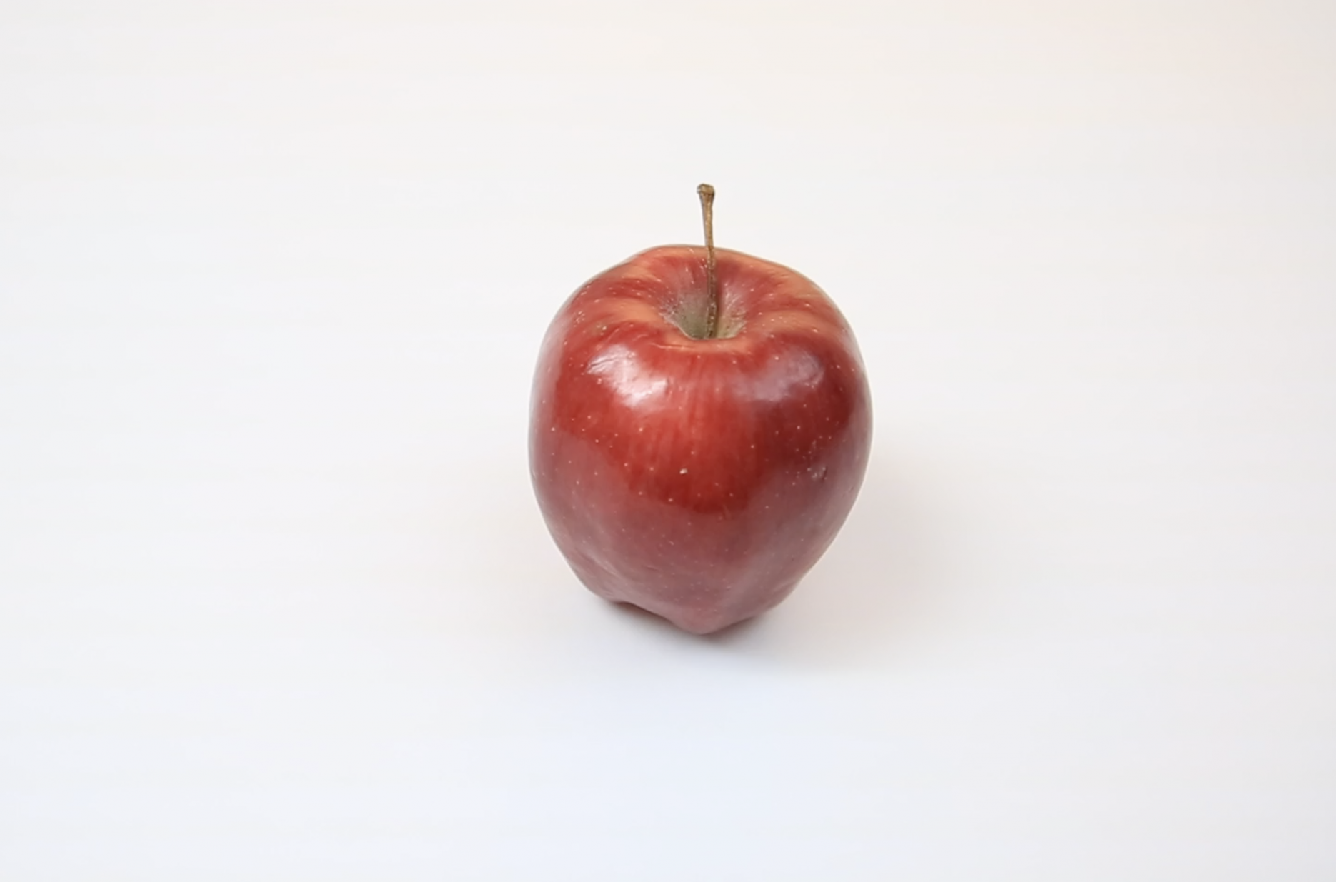 An Apple - One of many things we recorded on our first day of filming.