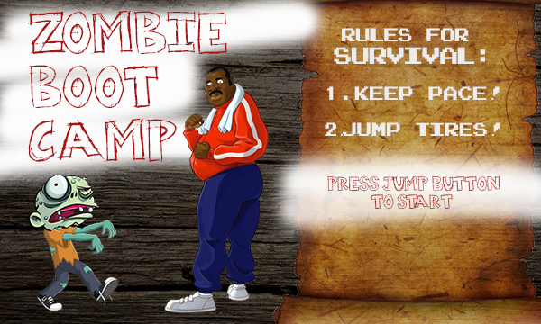Start screen for Zombie Boot Camp