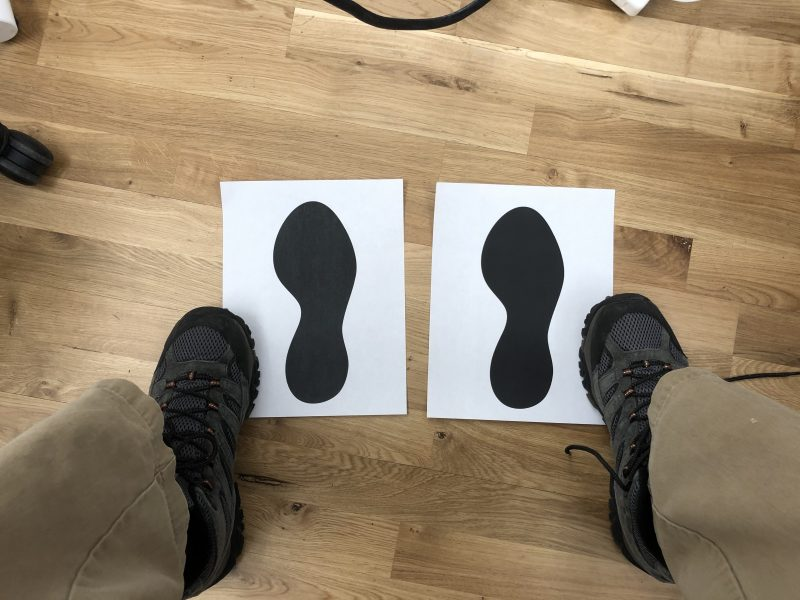 Paper Prototype Footprints