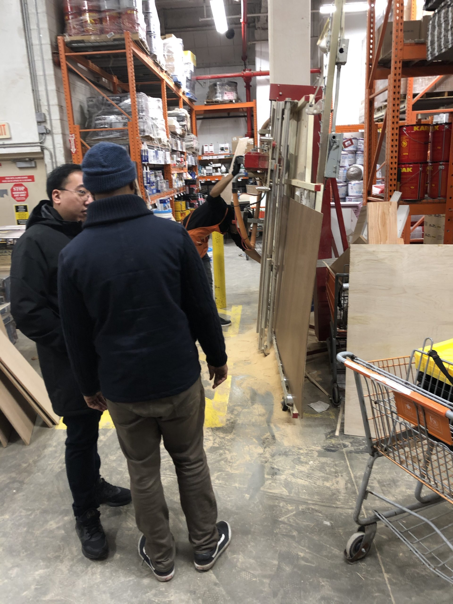Wood Cutting at Home Depot