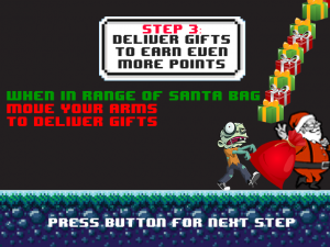 Santa's Zombie Boot Camp - Screen shot of our new how to score with gifts tutorial page.