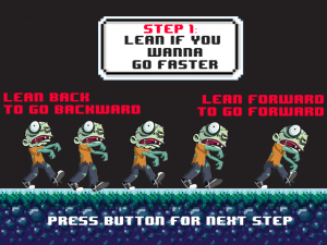 Santa's Zombie Boot Camp - Screen shot of our new how to move forward tutorial page.