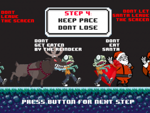 Santa's Zombie Boot Camp - Screen shot of our new how to lose tutorial page.