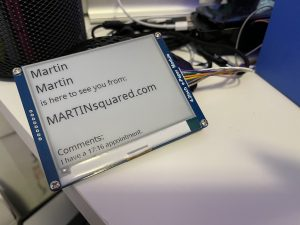 """An Example of Getting my 4.2"""" WaveShare e-paper Screen to Display a Message from Google Sheets."""