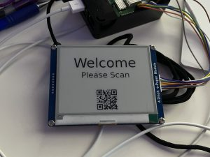 """Early Proof of Concept - Getting my 4.2"""" WaveShare e-paper Screen to Print a Message with a QR Code"""