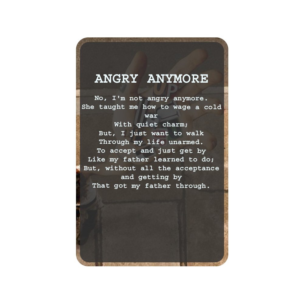 ANGRY ANYMORE Oracle Deck Card