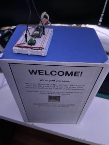 Top View of Prototype of my Visitor Kiosk