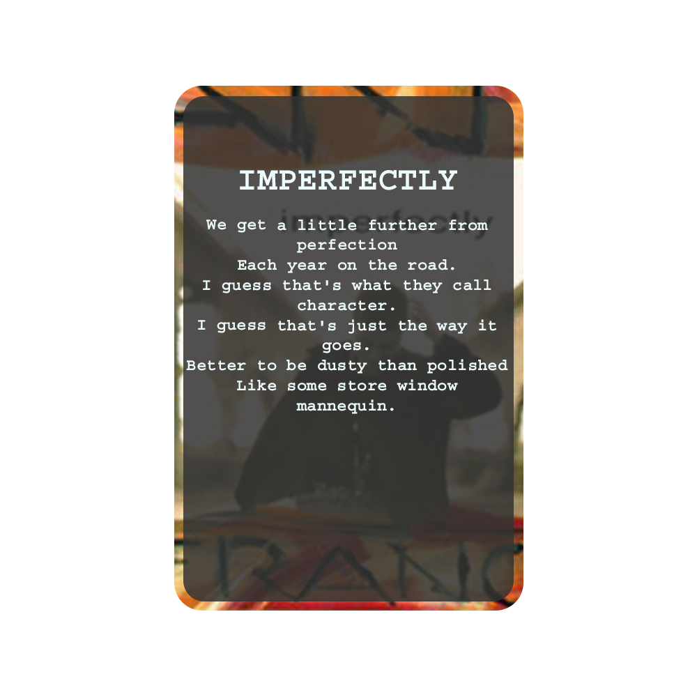 IMPERFECTLY Oracle Deck Card