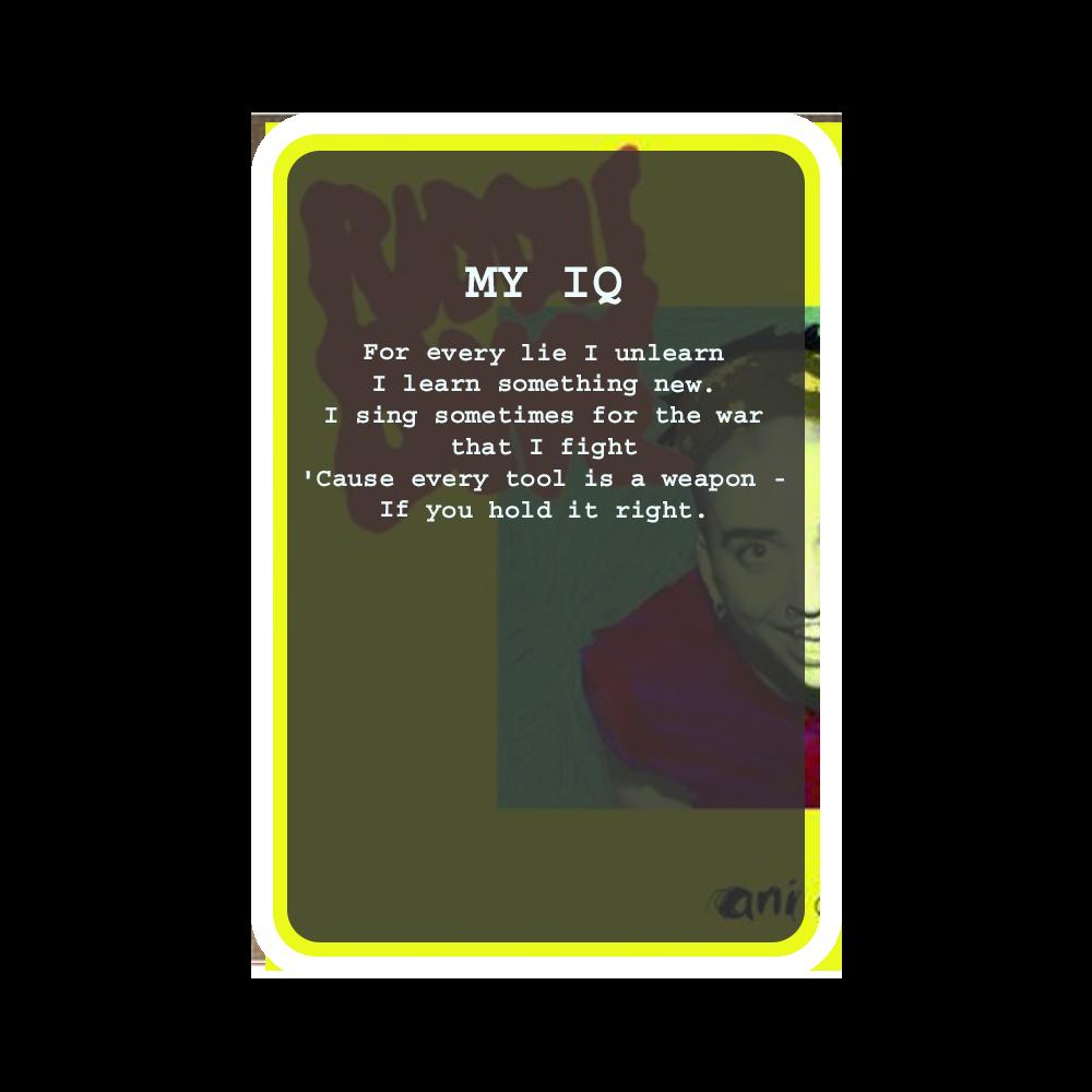 MY IQ Oracle Deck Card