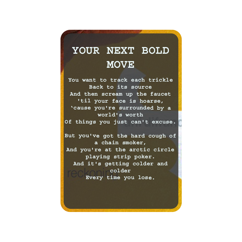 YOUR NEXT BOLD MOVE Oracle Deck Card