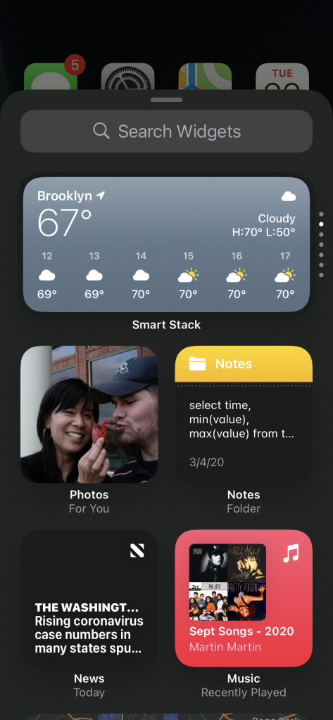 Adding a Widget in iOS 14