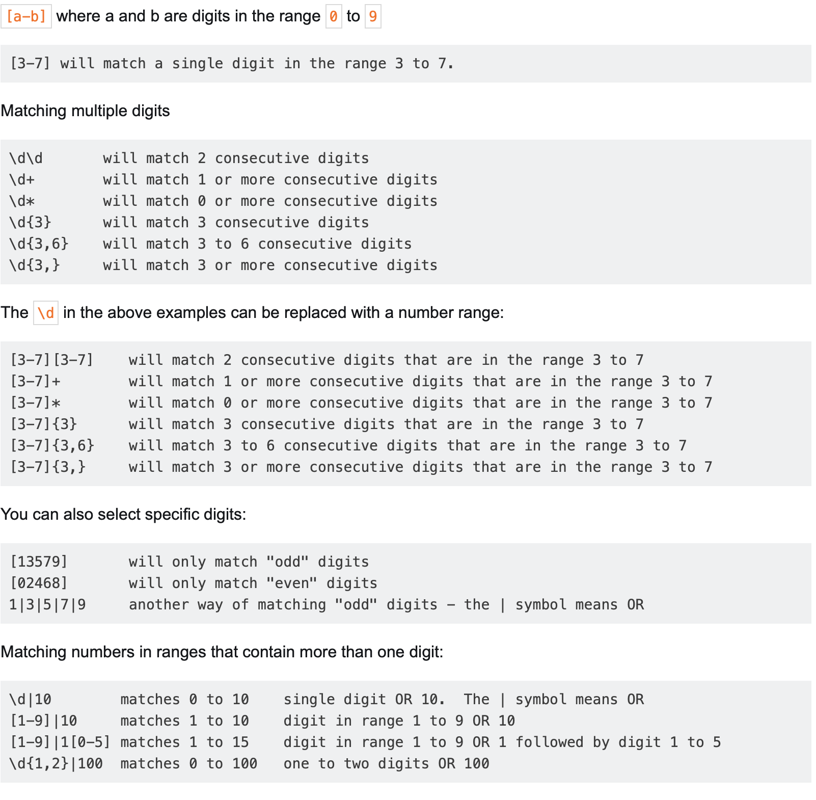 RegEx Examples Screen Shot from riptutorial.com
