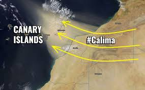 Calima over the Canary Islands Illustration Source Severe Weather Europe
