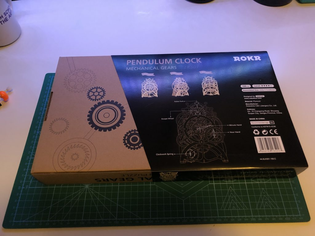 My ROKR Clock Puzzle Building Experience - Image of Box