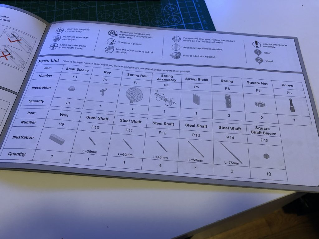 My ROKR Clock Puzzle Building Experience - Image 3 - Instructions!