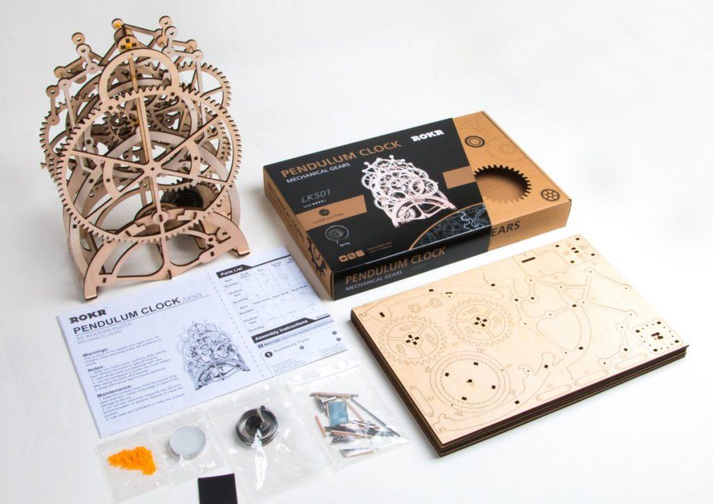 ROKR LK501 - Pendulum Clock 3D Puzzle