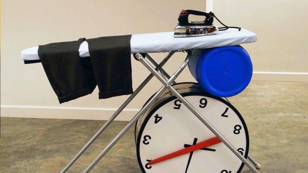 Image of The Dresser - Rube Goldberg Machine - source Josephs Machine on YouTube