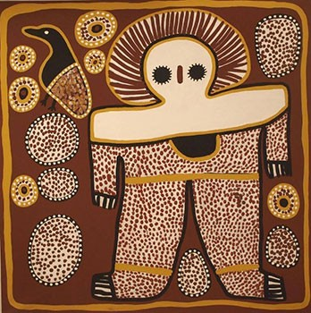 Aboriginal Australian Dreamtime Imagery. Source - Artlandish Aboriginal Art Gallery