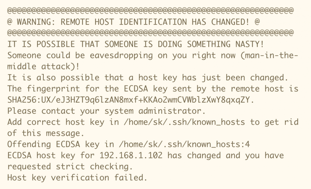 Example of ECDSA message in terminal. I saw something like this. (Source - Arthur Roncey, Medium)